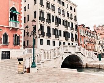 Italy Photography, Venice photography, travel photography, pastel, pink, Bridges, nursery art