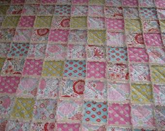 Custom Rag Quilt, Crib Size Rag Quilt, Toddler Bed Quilt