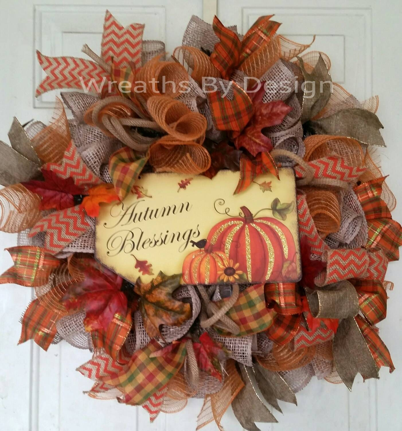 Sale Burlap Wreath Fall Wreath Country By Wreathsbydesign1