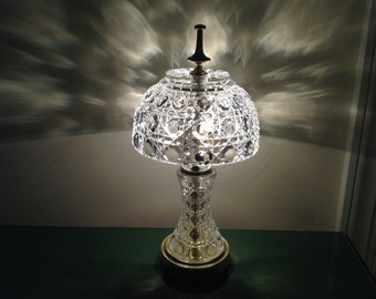 Small Vintage Crystall Accent Lamp