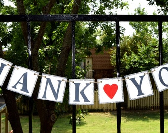 THANK YOU  Banner  Wedding Banner - Engagement Party Decoration - Photo Prop