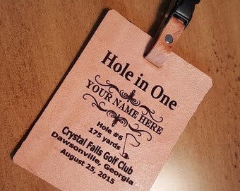 Hole in One, Golf Bag Tag, Birdie Pin Tag, Hole in One, Name Tag, Luggage Tag.