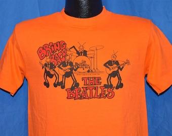 70s Bring Back the Beatles David Peel Orange Records Rock 1976 Vintage t-shirt Small