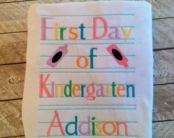 First day of school personalized shirt-Back to school-kindergarten-preschool-boy back to school-girl back to school