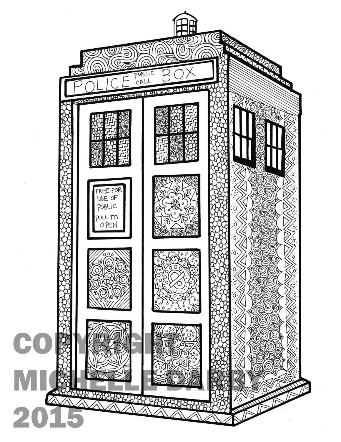 tardis coloring pages - photo#9