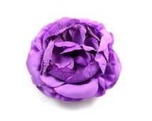 """Purple - Set of 2 Large 4"""" Ranunculus Flower - LRF-008"""