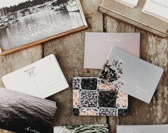 Choose Any 10 | Calligraphy Post Card Set | Matte | 100% Recycled