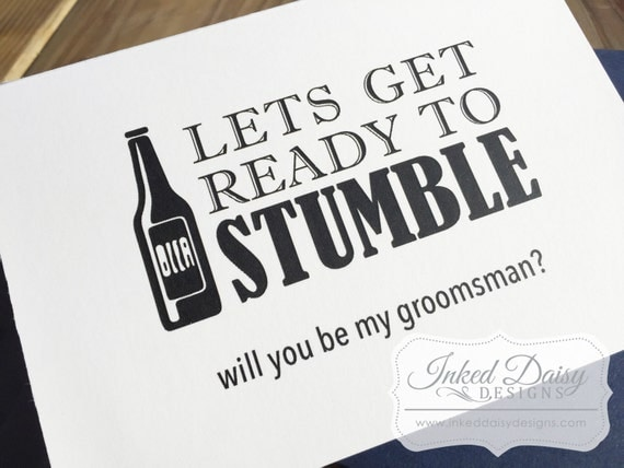 Wedding Gift Ideas For Bestman And Ushers: Beer Groomsman Card Funny Will You Be My Groomsman Best Man