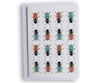 Beetle bug card - A6