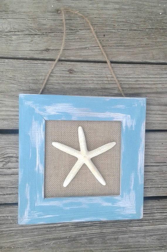 Shabby Chic Nautical Decor: Starfish Wall Decor Shabby Chic Coastal Cottage Cottage