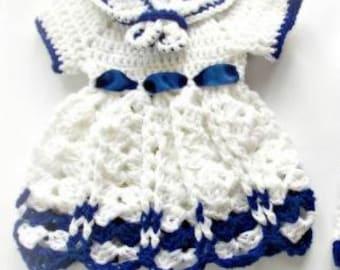 baby sailor costume, newborn sailor set, baby navy set, baby sailor pattern, sailor outfit, Crochet newborn, Toddler Sailor Dress