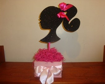 Barbie silhouette center piece