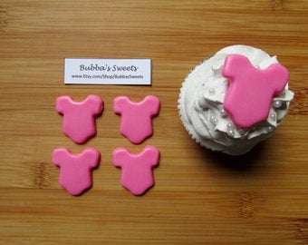 ONESIE Cupcake TOPPERS - (24) It's a GIRL/Shower Favors