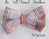 Fall Flannel Bow