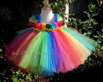 Rainbow Tutu Dress, Clown Tutu Dress, Birthday Tutu Dress, Tutu Dress, Rainbow Tutu, Clown Tutu