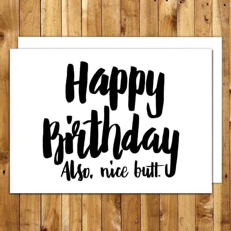 Birthday Card Boyfriend Birthday Card Girlfriend Funny