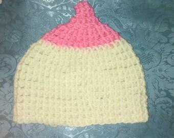 Pro-Breastfeeding Handmade Crocheted Boobie Beanie For Baby 9-12 Months