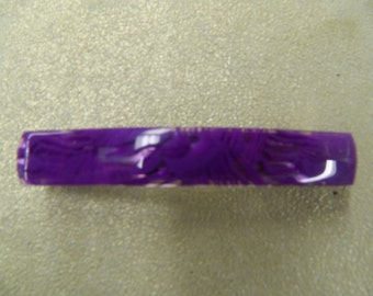 Vintage purple lilac hair barrette made in France