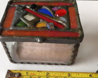 small glass box