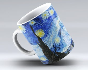 Mug 11 oz Vincent Van Gogh Illustration The Starry Night
