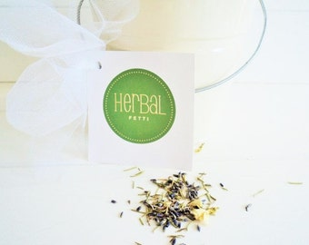 ELIZABETHAN WEDDING HERBS, Ecofriendly Confetti, Green Weddings, Biodegradable Lavender, Rosemary Herbalfetti ~ for fairy tale endings