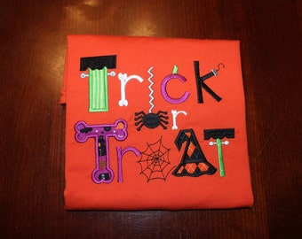Trick or Treat Halloween Applique