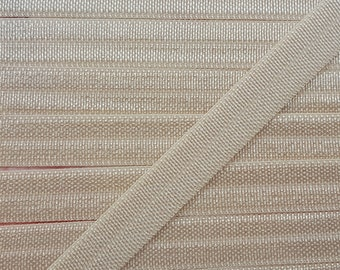 3/8 TAN Fold Over Elastic 5 or 10 Yards