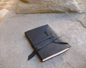 Leather book leather journal guest book leather skecthbook