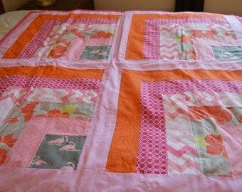 Happy Pink Flamingos Quilt