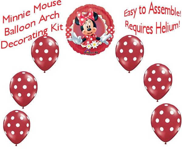 Minnie mouse balloon arch diy kit party decoration for Balloon arch decoration kit