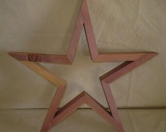 Wooden Acid Washed Primitive Star