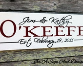 Personalized Wood Wall Art, Custom Wood Signs, Wedding Gift Sign Family Name, Family Plaques, 25th Anniversary Gift Bridal Shower Gift, Sign