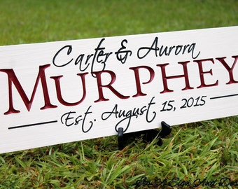 Custom Wood Signs, Custom Signs, Wedding Gift, Wedding Signs, Personalized Wooden Signs Unique Wedding Gifts for Couple Outdoor Family Name