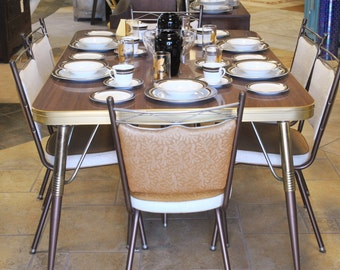 Captivating Vintage Rare Mid Century Walter Of Wabash Howell Company Table U0026 8 Chairs
