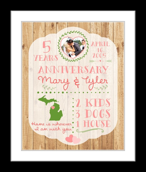 5 Year Wedding Anniversary Gift Ideas For Wife : Year Anniversary Present Men Anniversary Gift Husband Wife 10 1 Year ...