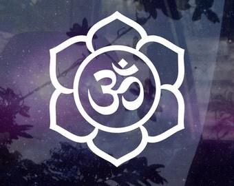 Namaste Lotus Decal