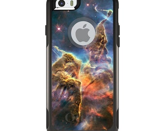 OtterBox Commuter for Apple iPhone 5S SE 5C 6 6S 7 8 PLUS X 10 - Custom Monogram - Any Colors - Blue Yellow Orange Carina Nebula