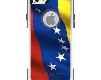 OtterBox Commuter for Apple iPhone 5S SE 5C 6 6S 7 8 PLUS X 10 - Custom Monogram - Any Colors - Venezuela Waving Flag
