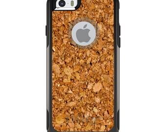 OtterBox Commuter for Apple iPhone 5S SE 5C 6 6S 7 8 PLUS X 10 - Custom Monogram - Any Colors - Dark Cork Board
