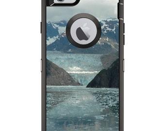CUSTOM OtterBox Defender Case for Apple iPhone 6 6S 7 8 PLUS X 10 - Personalized Monogram - Tracy Arm Fjord Alaska