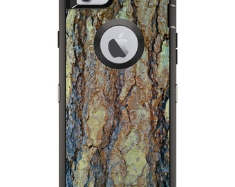 CUSTOM OtterBox Defender Case for Apple iPhone 6 6S 7 8 PLUS X 10 - Personalized Monogram - Yosemite Redwood Bark