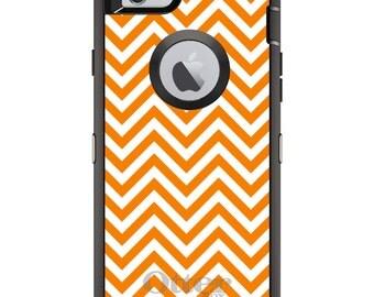 Custom OtterBox Defender Case for Apple iPhone 6 6S 7 8 PLUS X 10 - Monogram - Tennessee UT Volunteers Vols Colors-Chevron Pattern