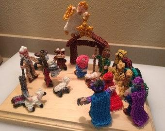 Nativity Set, handmade