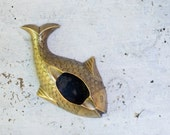Vintage bronze ashtray fish indian carp fish brass ashtray bronze koi fish
