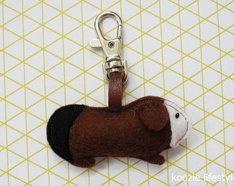 keychain guinea pig - three colors