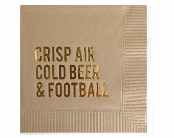 Football Napkins - Tailgate Napkins - Super Bowl Party