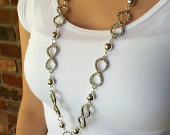Infinity Bling Lanyard Necklace
