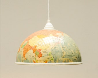 Globe lamp shade travel fever!