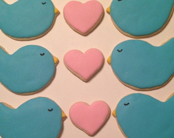 Love Bird Sugar Cookies