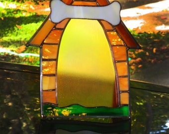 PICTURE FRAME - Stained Glass Dog House - 1815TGM06157